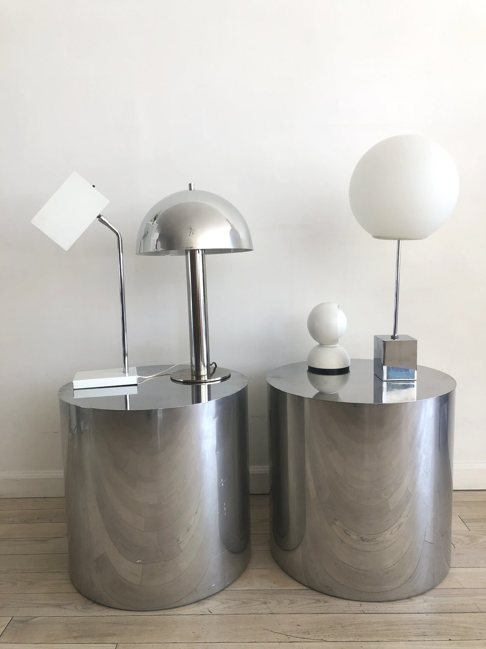 Mid century Chrome Mushroom Laurel Lamp Table Lamp
