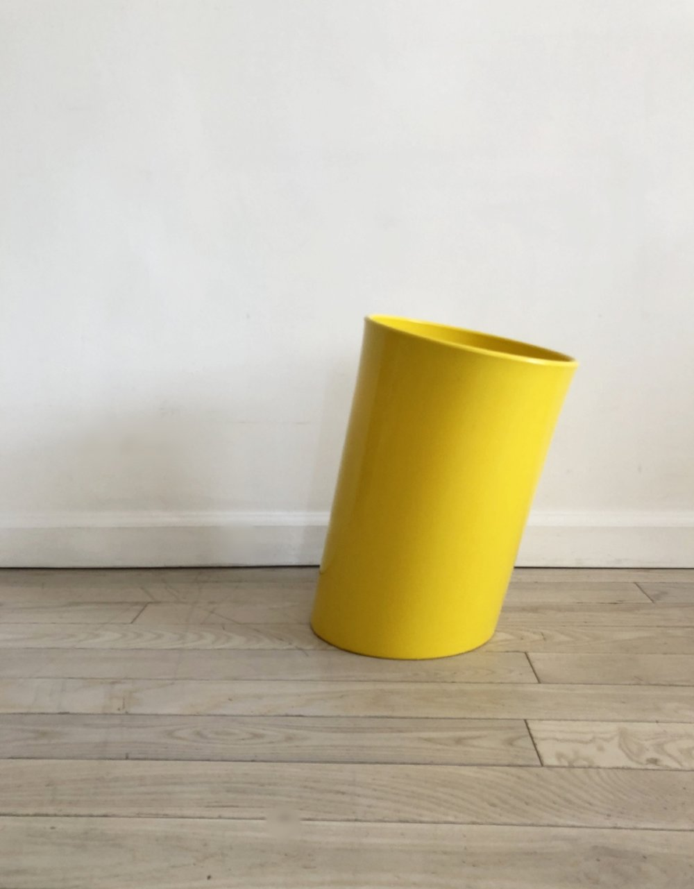 1970s Attesa Slanted Waste Bin by Enzo Mari for Heller