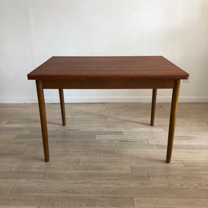 Mid Century Danish Teak Expandable Dining Table
