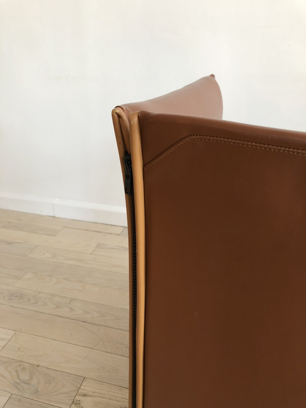 1976 Italian Leather Mario Bellini for Cassina Chair