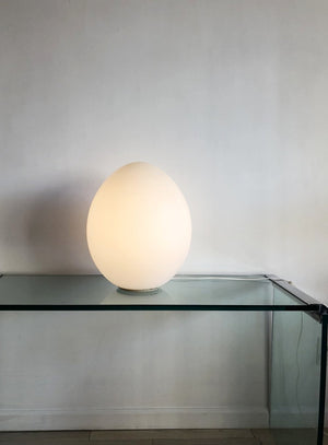 XXL 1970s Laurel Lamp Company Frosted Glass Egg Lamp