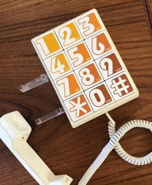1970s Western Electric Ombre Big Number Phone