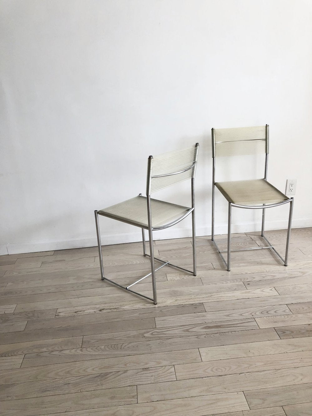 Set of 4, 1970s Italian Clear PVC Spaghetti Chairs by Giandomenico Belotti for Alias