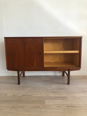 1960 Teak Petite Sideboard By Folke Ohlsson for Dux Sweden
