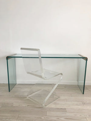 1970s Lucite Cantilever Z Chair