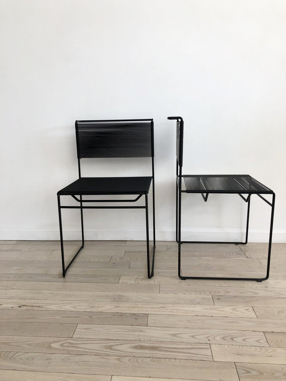 Pair Spaghetti Chairs by Giandomenico Belotti for FlyLine, Italy