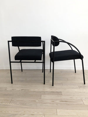 Pair of Vintage Rodney Kinsman Black Vienna Chairs