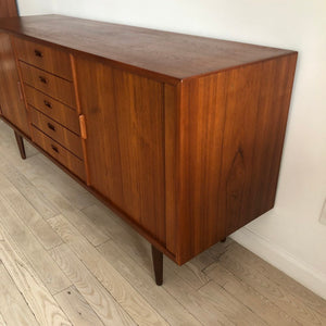Mid Century Danish Teak Credenza Manner of Arne Vodder