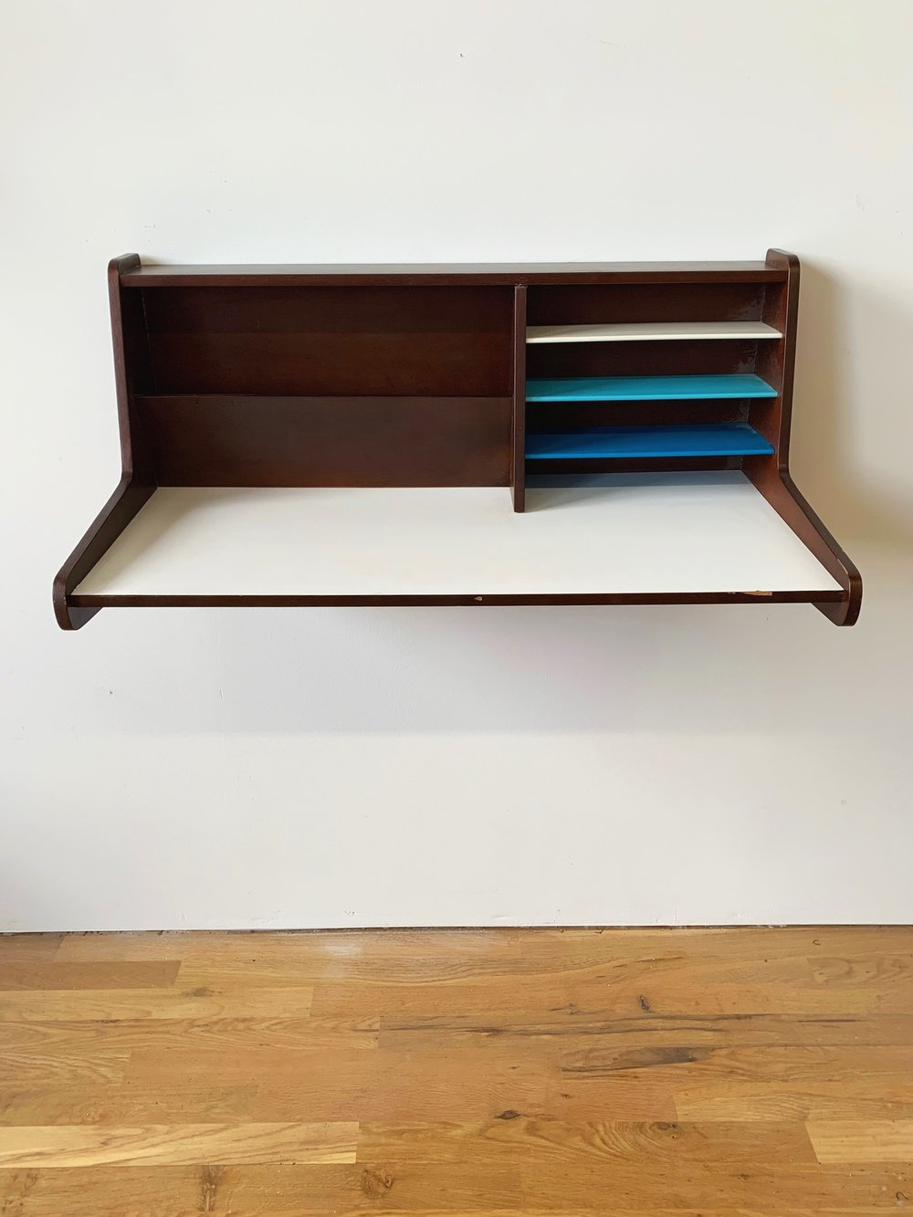 Image of: Mid Century Wall Mounted Floating Desk Home Union Nyc