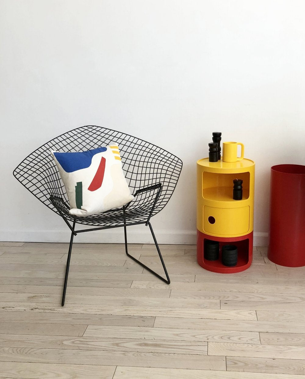 1970s Yellow and Red Plastic Componibili Unit Designed by Anna Castelli for Kartell