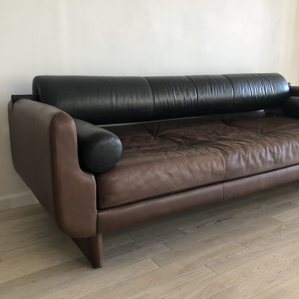 Vladimir Kagan 'Matinee' Sofa / Daybed in Leather