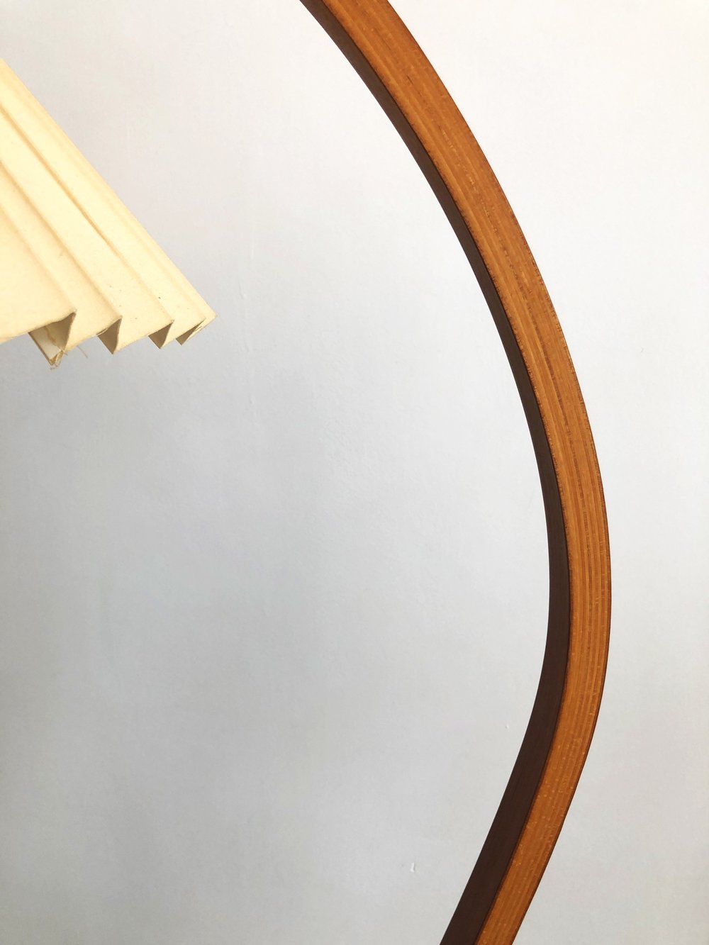 1970s Bent Teak Danish Caprani Floor lamp