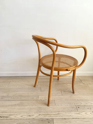 Mid Century Bentwood and Hand Caned B9 Arm Chair-Each