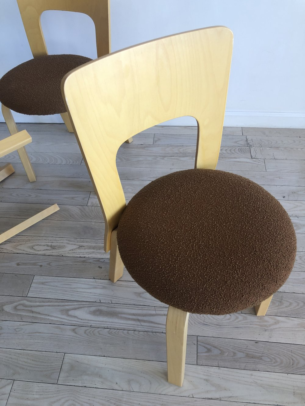 Vintage  Bent Beech Chair 66 By Alvar Aalto for Artek