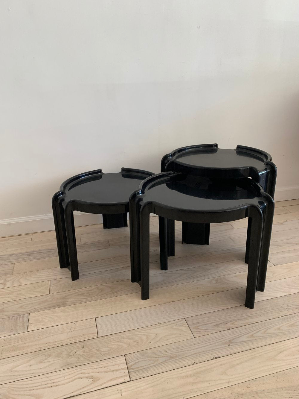1970s Giotto Stoppino Stacking Tables by Kartell