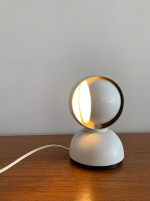 Vintage White Eclisse Table Lamp by Vico Magisretti for Artemide