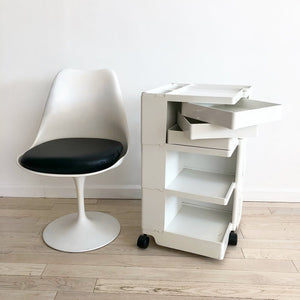 "1970 Joe Colombo ""Boby"" Trolley Workstation Cart in White"
