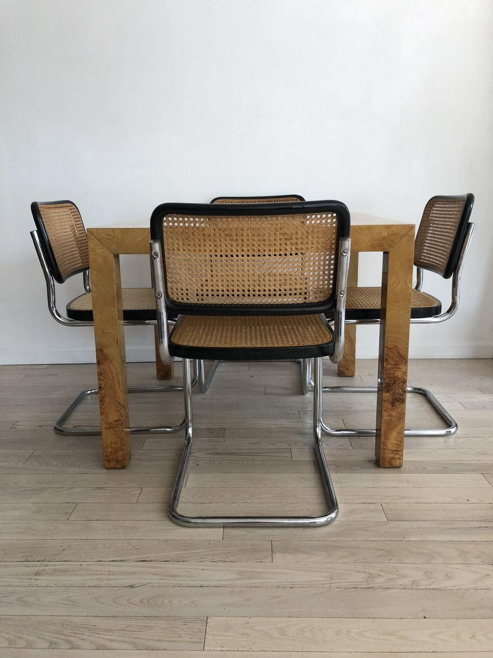 Pair of 1970s Cane Cantilever Cesca Chairs Made in Italy