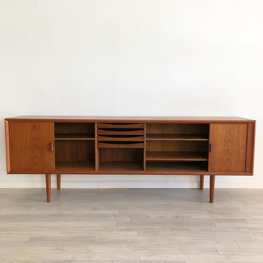 Teak Mid Century Danish Server by Svend Larsen for Faarup Mobel Fabrik