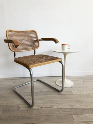 1977 Knoll Eero Saarinen White Tulip Side Table