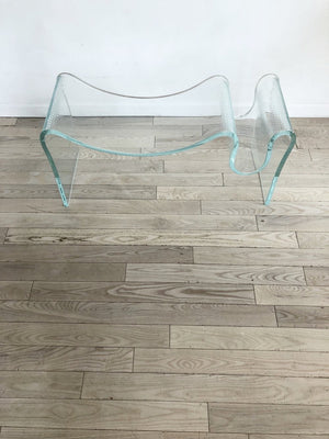 Vintage Freeform Sculptural Glass Table/Bench/Pedestal by Laurel Fyfe