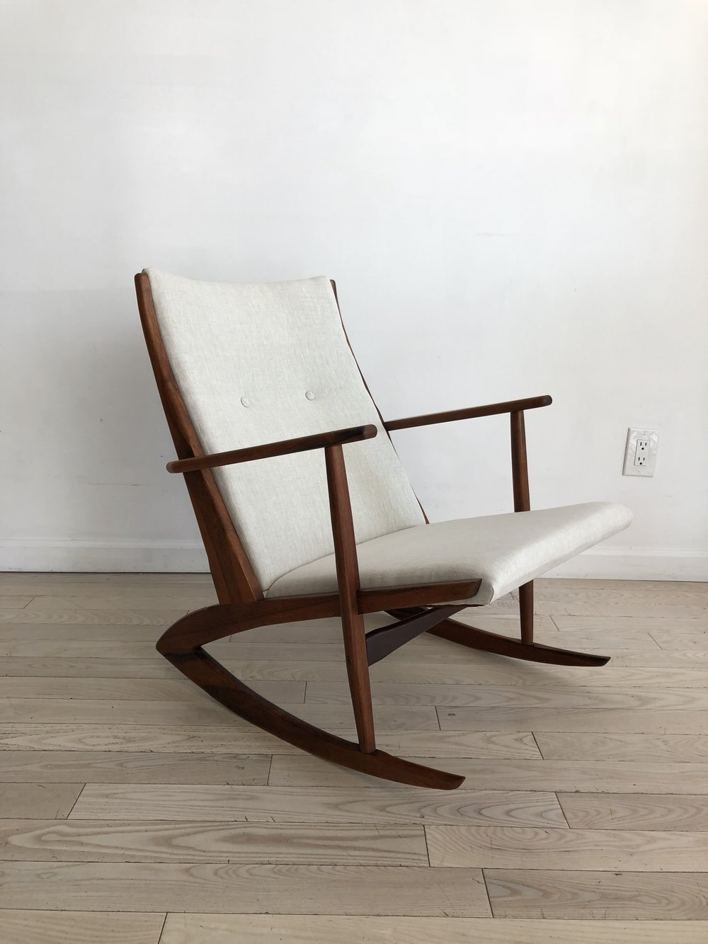 1958 Danish Rosewood Rocking Chair by Holger George Jensen