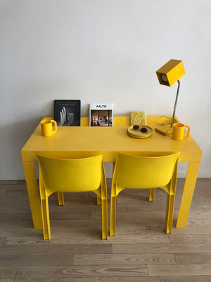 1970s Yellow Plastic Syroco Chair-Single