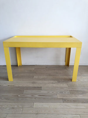 1970s Syroco Plastic Yellow Parsons Desk