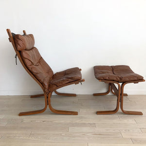 "1960s Ingmar Relling for Westnofa ""Siesta High"" Lounge Chair + Ottoman"
