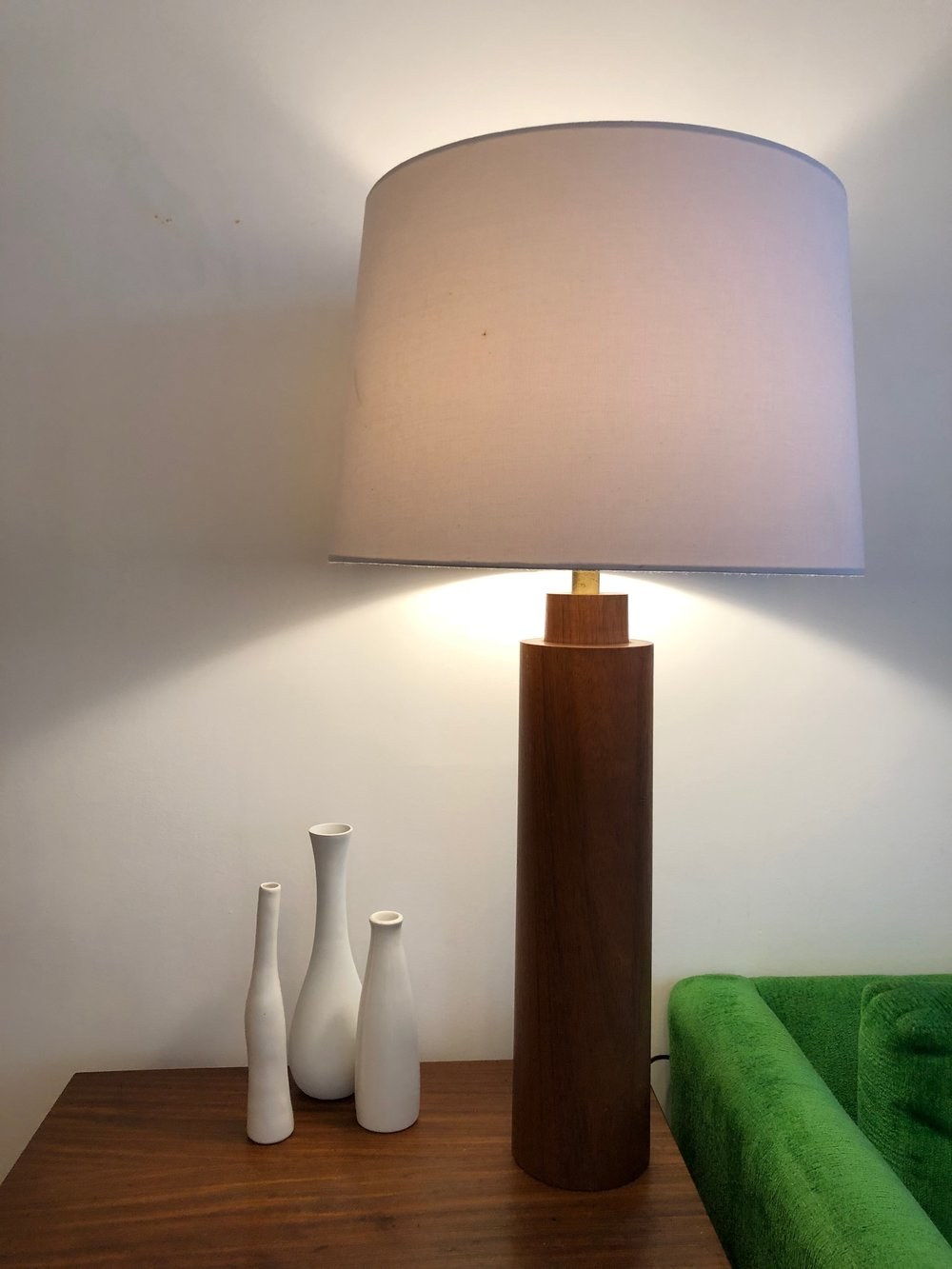Mid Century Danish Teak Table Lamp