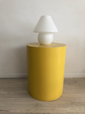 1970s Handblown Twisted Glass Mushroom Lamp by Vetri Murano