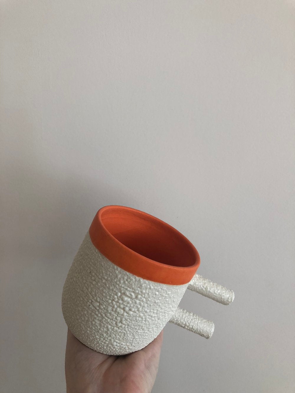 Ceramic Handmade Lamb Chop Orange Mug