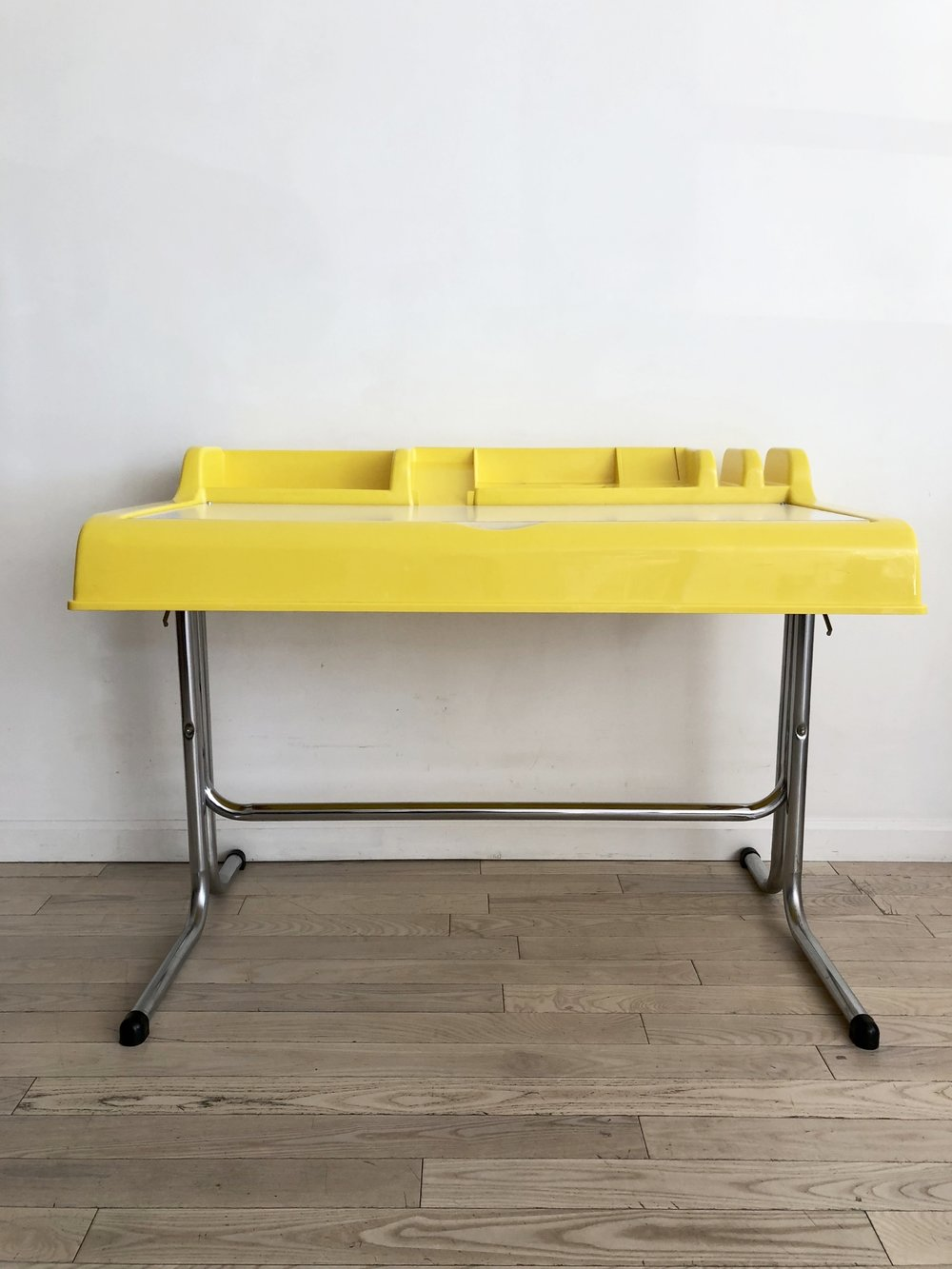 1970s Yellow Plastic Desk