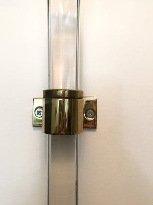 Pair of 1970s Knoll Bent Lucite Sconces Designed by Peter Hamburger