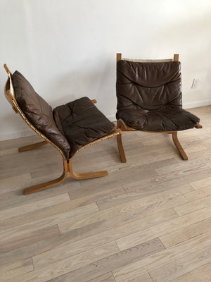 1960s Westnofa Bent Birch + Leather Siesta Chair From Norway