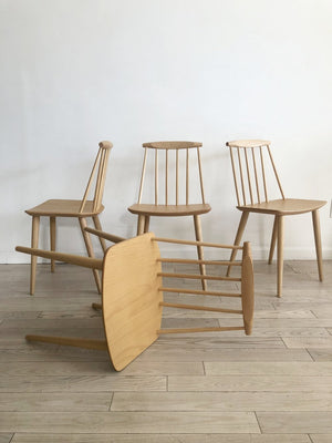 1978 Folke Palsson J77 Chairs for FDB Mobler, Made in Denmark-Set of 4