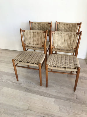 Mid Century Scandinavian Teak Bendt Winge Dining Chairs-4