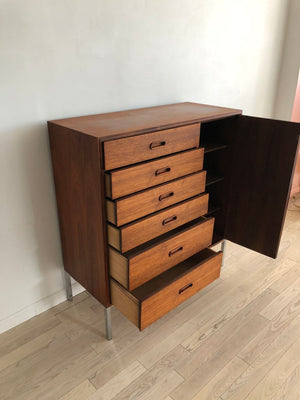 1960s Refinished Walnut Gentleman's Chest by Founders
