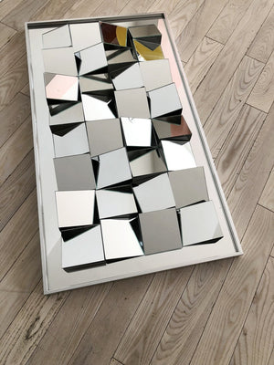 "1970s Cubist ""Slopes"" Mirror by Neal Small"