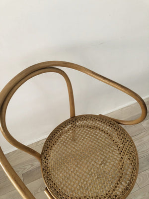 Pair of 1960s Bentwood Hand Caned Thonet B9 Armed Chairs-2 chairs