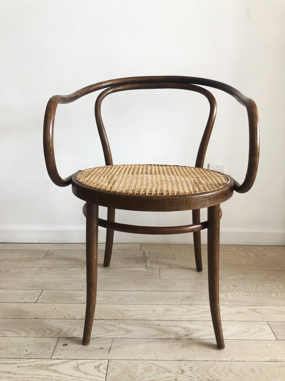 Pair of Mid Century Bentwood B9 Thonet Arm Chairs