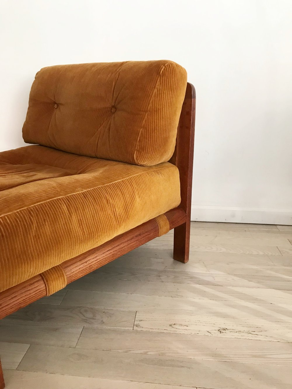 Mid Century Fumed Oak Scandinavian Lounge Chair