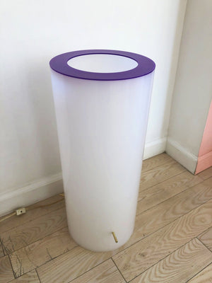 1965 Paul Mayen Plexi Cylinder Lamp W/ Purple Top