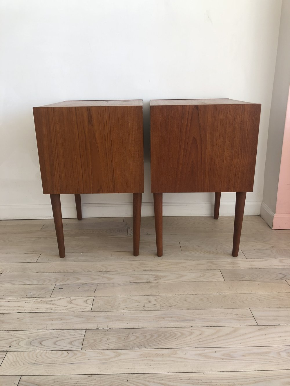 Pair of Danish Teak 1960s Nightstands