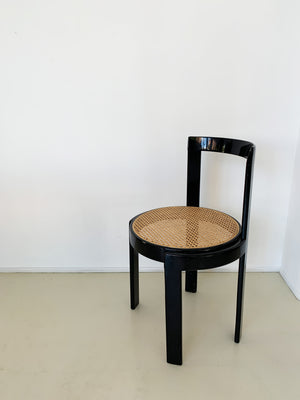 1970s Italian Cane Round Chair - Each