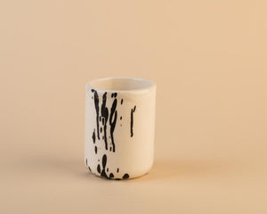 Black and White Glazed Ceramic Handmade Mug
