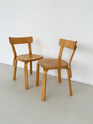 1970s Alvar Aalto Birch Chair 69 by ICF