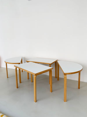 1970s Alvar Aalto Modular Dining Table Set by ICF