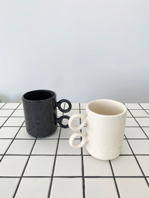 Ceramic Scissor Mugs in Black, White, Sand or Pink