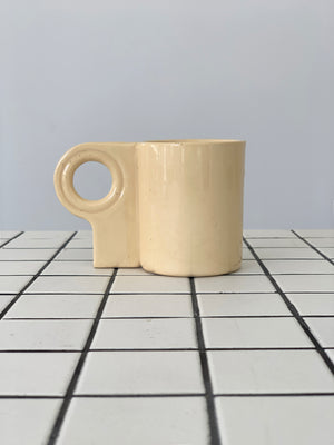 Pale Yellow Ceramic Mug